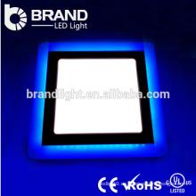 Lúmenes altos 6w + 3w redondo y cuadrado doble color LED Panel de luz