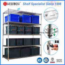 Cremalheira resistente do escaninho de armazenamento do fio de aço das séries do NSF 5 para o armazém