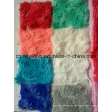 Fleece de moda del paño grueso y suave de la felpa del poliéster hecho girar de China Manufactorer