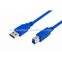 Azul Cabo de impressora USB 3.0 Cabo AM a BM Um macho para B Macho Conector adaptador 35 centímetros 50 centímetros 1 m 1,5 m 3 m