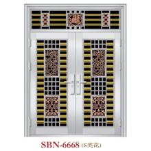 Puerta de acero inoxidable para sol exterior (SBN-6668)