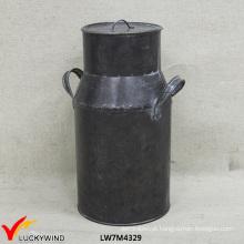Antique Shabby Chic Metal Pot