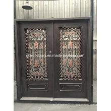 Luxury House Design Wrought Iron Security Door