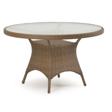 Mesa de comedor de muebles de jardín de mimbre de la rota de la resina