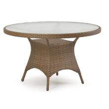 Mesa de jantar ao ar livre mobiliário jardim de vime do Rattan da resina