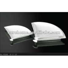 White Ceramic Serving Plates P0358