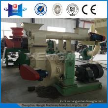 HJM420 Ring die wood pellet mill with feeding conveyor