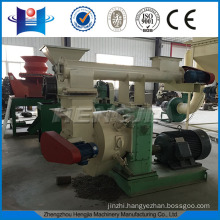 HJM420 Ring die wood pellet mill with feeding conveyor