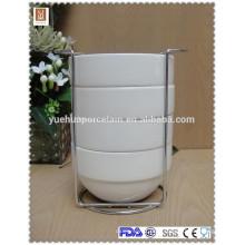 4-чашечная чаша с металлической стоечной керамической штабельной чашей