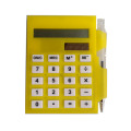 Caja de tarjeta de presentación plástica multifuncional con bolígrafo Calculadora solar de bolsillo