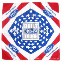 OEM Fabrication personnalisée Logo imprimé imprimé en coton coton écharpe écharpe
