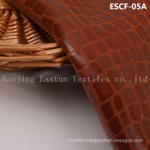 Print and Golden-Plating Suede Fabric Escf-05A
