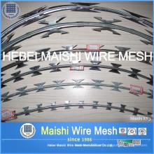 Arame farpado de arame farpado de diâmetro de bobina de 450 mm