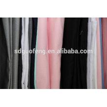 Algodón 97% algodón 3% elastano sarga tela de tinte sólido precio al por mayor shandong molino