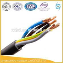 XLPE isolé et PVC gainé câble de commande flexible