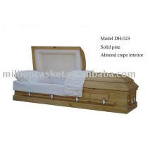 caixão de pinho maciço