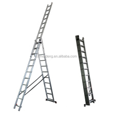 hot sale 3 sections Aluminium Foldable Extension Ladders with EN131