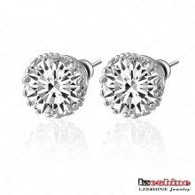 Cheap10*10mm Round Zircon Stud Earrings (CER0001-B)