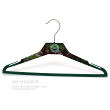 Body Printed Plastic Clothes Hanger Custome Printing Design Coat Ahngers