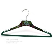 Тело печатных пластиковых вешалка Custome печать дизайн пальто Ahngers