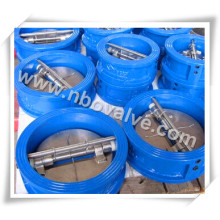 """Válvula de retenção de disco duplo de 14 """"Wcb com mola (150 lb)"""