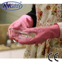Luvas de limpeza de borracha extra longa casa NMSAFETY