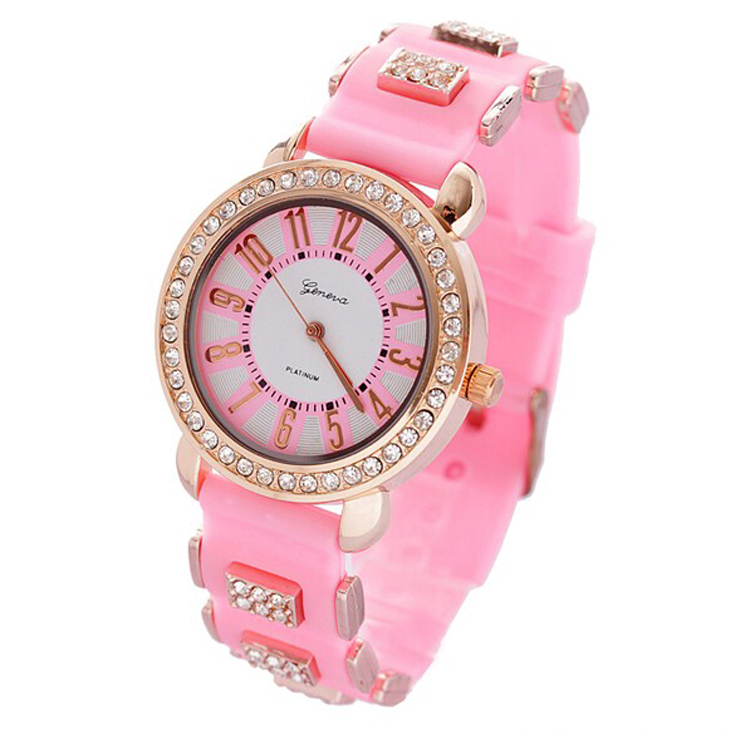 Colorful Custom Silicone band Watch for Women