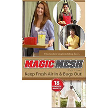 Hot-Magic Mesh Hands-Free Screen Door
