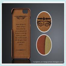 Estojo de couro de luxo PU Multi-Credit Card Slot para iPhone6