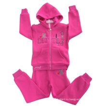 Высокое качество флис Детская толстовка с вышивкой в Детская одежда для спортивные костюмы РГС-102