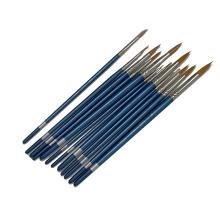 Promotional Nylon Hair Material Watercolor Paint Brush, 12pcs Round Head Artist Paint Brush