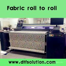 Impresora digital de cinta para rollo de tela de algodón para la impresión en rollo