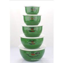 10-18см 5PCS эмаль салат чаша (LFC1138)