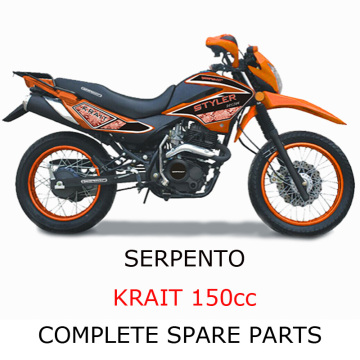 Serpento Dirt Bike KRAIT150cc Parte Parti Complete