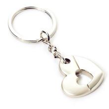 En alliage de zinc en métal Promotion personnalisée Chaîne principale en forme de coeur (F1389)