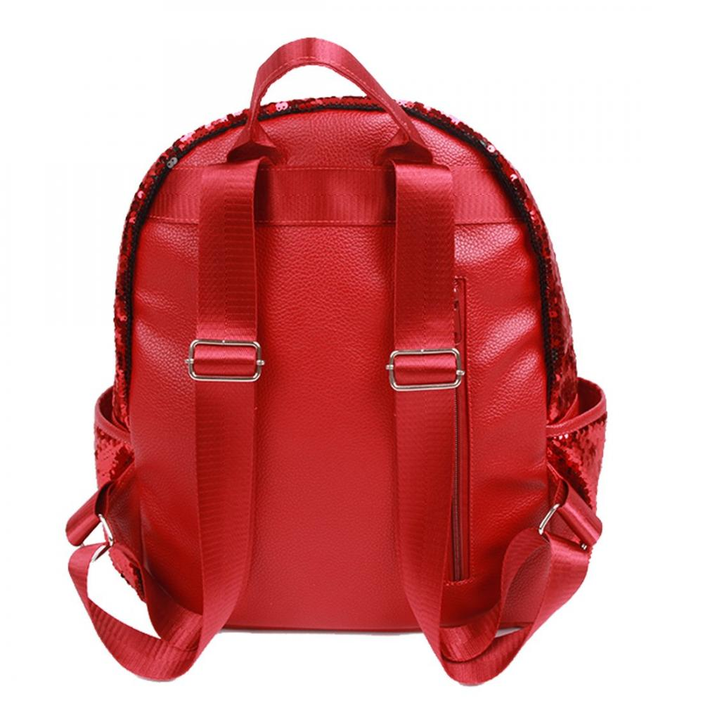Red Sequin Backpack 1