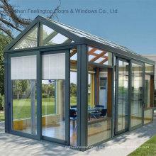 Sunrooms con marco de vidrio templado y aluminio (FT-S)