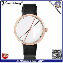 Yxl-390 Fashion Unisex Watches Simple Design Gold Plated Quartz Casual Couple Leather Watch Wrist