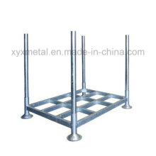 Poste de stockage de métal amovible logistique HDG empilable empilable Stillage