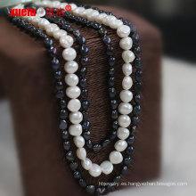 Joyería de moda única de agua dulce collar de perlas de diseño
