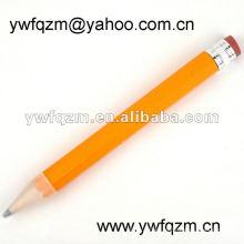 artículos de promoción gran lápiz amarillo con borrador y logo 38cm
