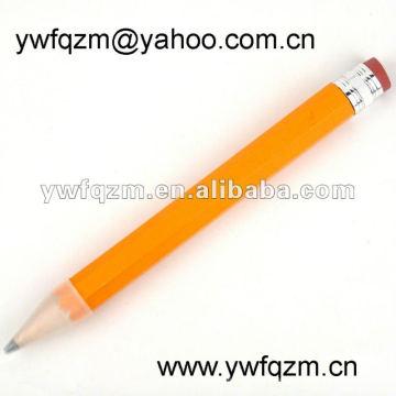 Werbeartikel großer gelber Bleistift mit Radiergummi und Logo 38cm