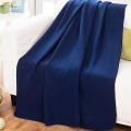 Pottery Barn Blue Snowman Fleece Blanket throw