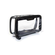 Transparente kosmetische PVC-Tasche, mit kundenspezifischer Farbnaht