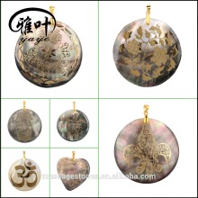 DIY Shell Pendant/Engraved Shell Jewelry Pendants