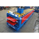 Automatic double decking steel roof roll forming machine