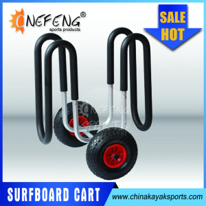2016 Aluminum SUP surfboard trolley Stand up paddleboard cart Surfboard beach cart