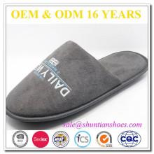 Micro camurça com padrão de impressão chinelos indoor mens