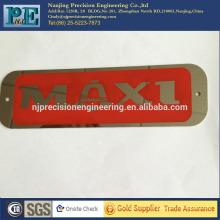 Placa de logotipo de aço inoxidável de eletrocorrosão de precisão para logotipo da empresa