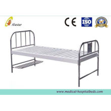 Custom Flat Stainless Steel Hole Punching Medical Hospital Beds With Foot Board (als-fb003)